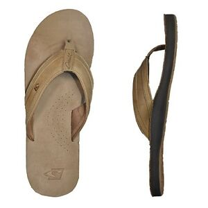 3afb305a9fa836 Details about O Neill CAPTAIN JACK Brown Beige Leather Arch Support Men s Sandals  Flip Flops