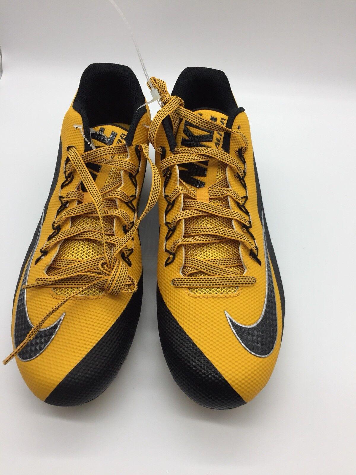 Nike Alpha Pro Football 2 TD PF Yellow Football Pro Cleats Shoes 729445-725 Size 14 a6a5f7