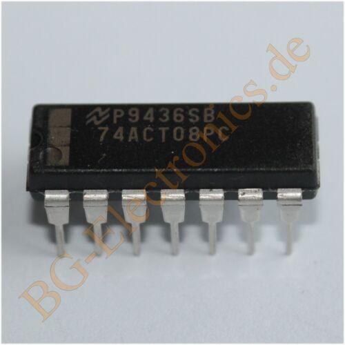 5 x 74ACT08PC Quad 2-Input AND Gate NS DIP-14 5pcs