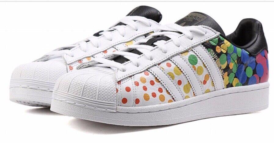 Adidas CM7802 Originals Superstar Pride Pack Rainbow LGBT Mens Shoes 12.5 NEW