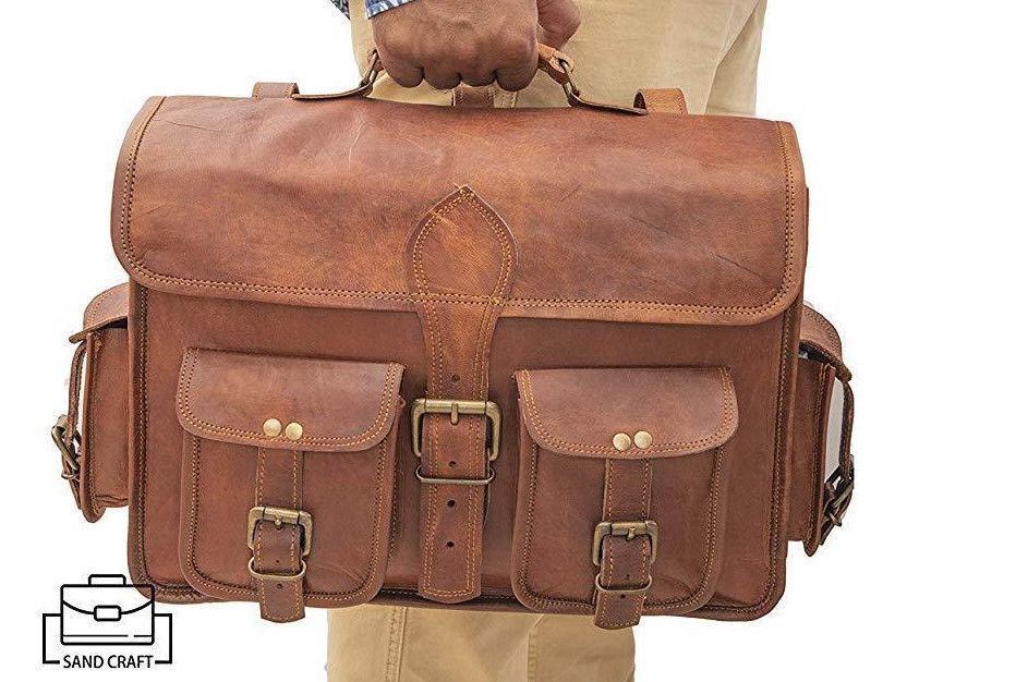 Handgemachte echtes Leder Aktentasche Laptop Messenger Schultertasche | Moderate Kosten