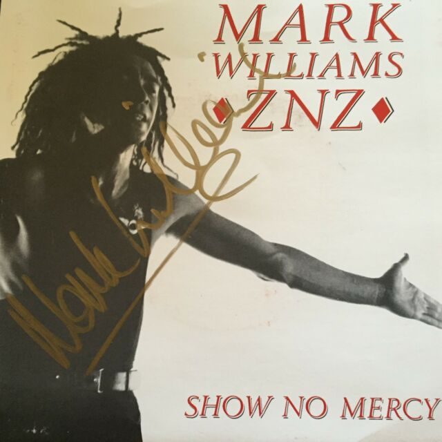 MARK WILLIAMS - - Show No Mercy - - Rare AUTOGRAPHED 1990 Australian ALBERT 7