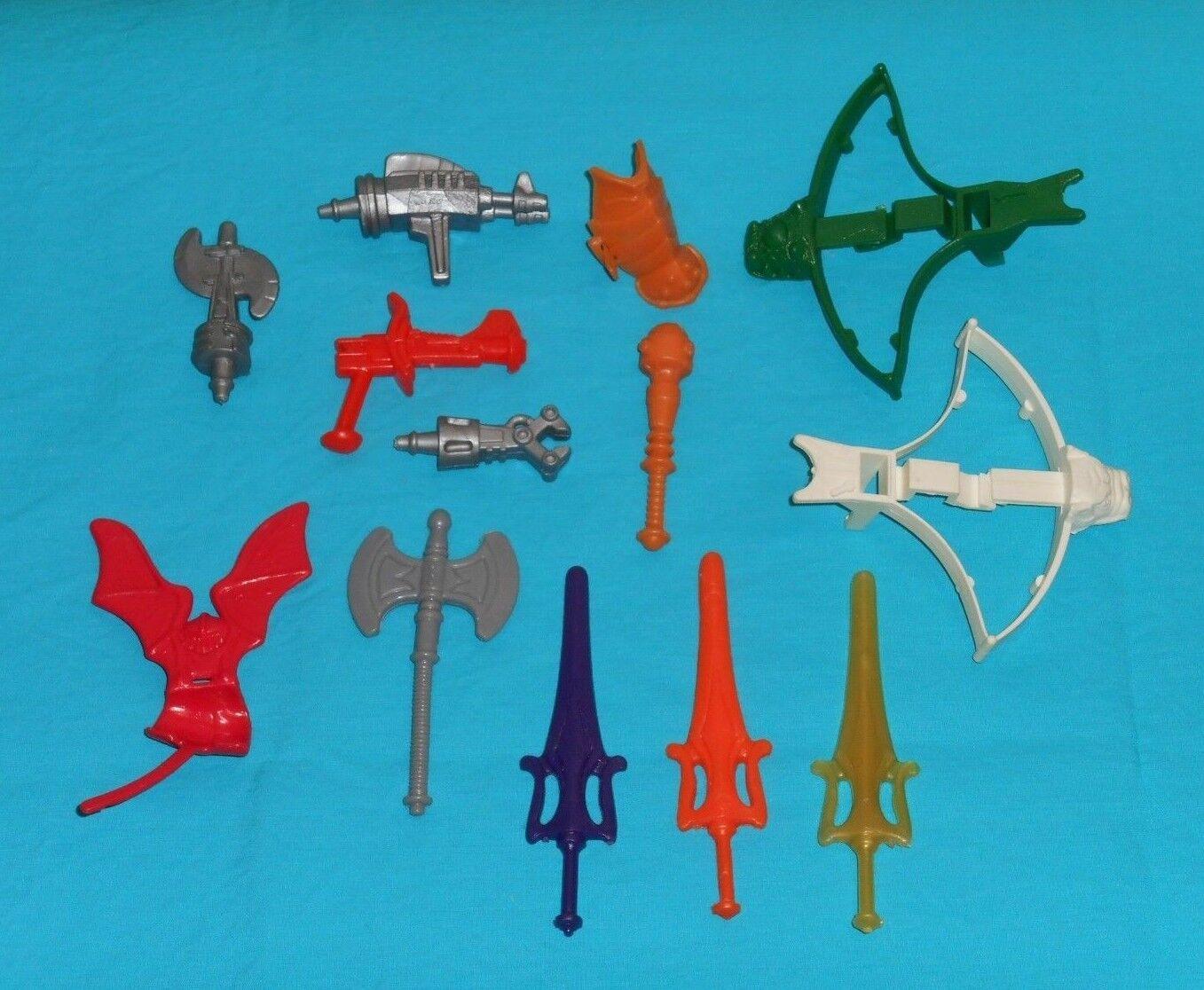 Vintage heman HE-MAN MOTU PARTS WEAPONS LOT  60 axe sword Faker Hordak