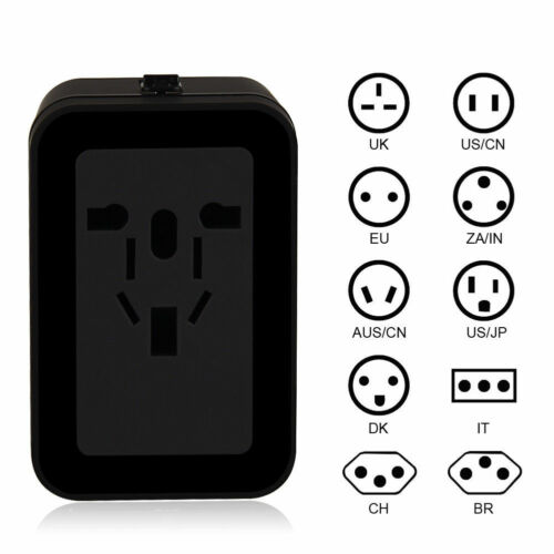 VCOO Worldwide All in One Universal Power Converters Wall AC USB Travel Adapter