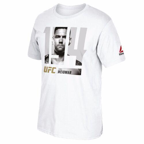 """Chris Weidman UFC Reebok Men/'s White /""""194 Event/"""" Graphic T-Shirt"""