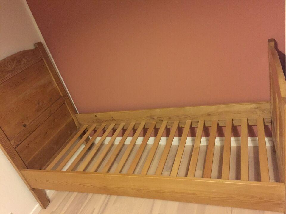 Andet, Fyrretræs seng l.180 cm l: 180