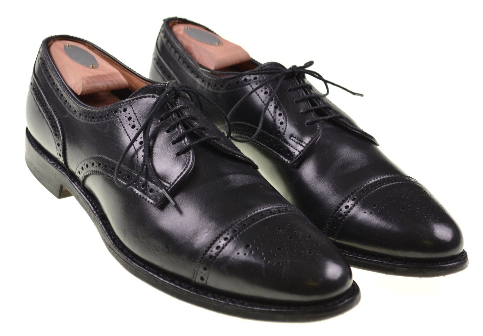 Zapatos De Vestir Allen Edmonds Sanford Brogue ponche de Cuero Negro Puntera 12 A