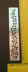 Border-Metal-Stencil-Leaf-Floral-Delicate-Ivy-emboss-Stainless-Steel