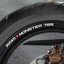 8 X Ducati Monster 795 Rueda Llanta pegatinas Nueva-B
