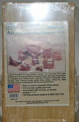 Greenleaf #7207 Nanny Approved NURSERY Dollhouse Wood Furniture Kit unassembled