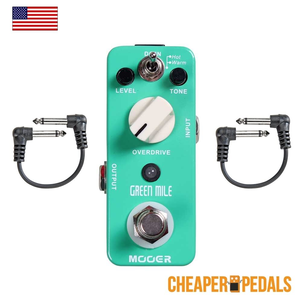 NEW MOOER Grün MILE Overdrive Pedal + 2 FREE Patch Cables & FREE Shipping