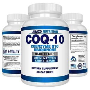 COQ10-Ubiquinone-Coenzyme-Q10-200mg-Maximum-Strength-Nutritional-Supplement