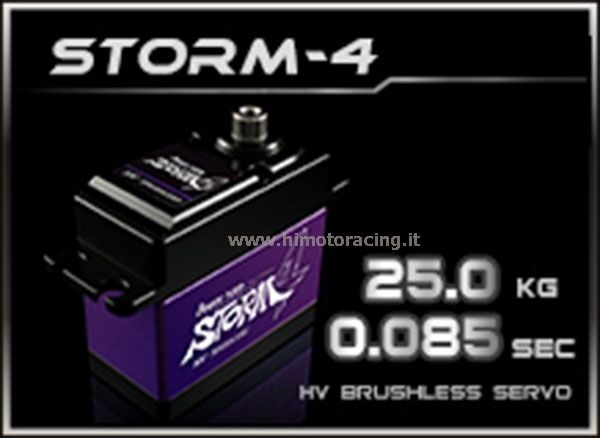 POWER HD STORM-4 SERVO DIGITALE 25.0 kg 0.08 sec BRUSHLESS INGRANAGGI IN TITANIO