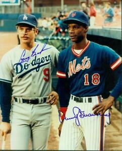 Original-Autographs-JSA-Greg-Brock-LA-Dodgers-amp-Darryl-Strawberry-NY-Mets