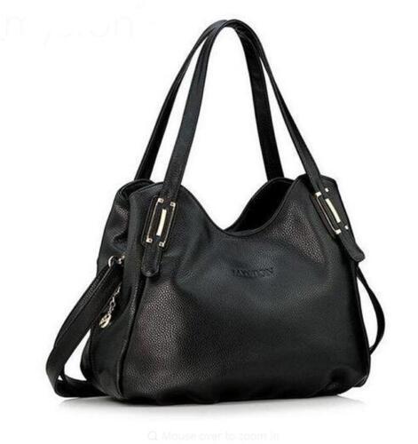 Femmes Mode Cuir Véritable Sac à main épaule sac pliable Sac @TY43