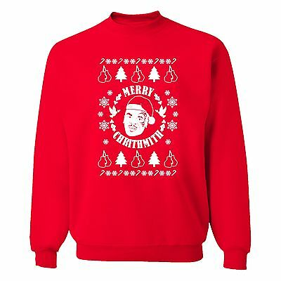Mike Tyson Merry Chrithmith Crewneck Sweatshirt Ugly Christmas Sweater X-mas