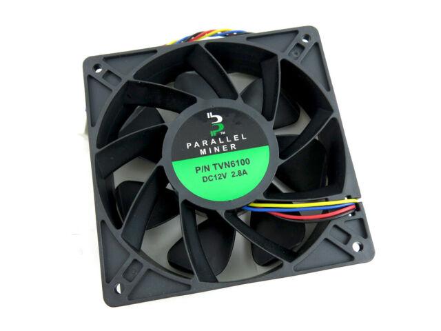 Bitmain Antminer S9K 6100 RPM High Performance Fan 260CFM 2.8A 12V 120mm x 38mm