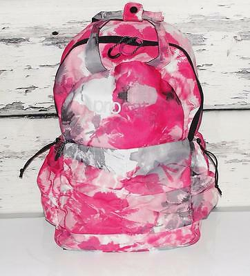PUMA~MULTI-COLOR~ABSTRACT PINK TIE DYE *PROCAT* PLEATED SCHOOL BACKPACK (RARE)