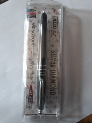 Details about  /Add Gel Silver Diamond Roller Gel Pen With Spring Point For Writing Pack of 1