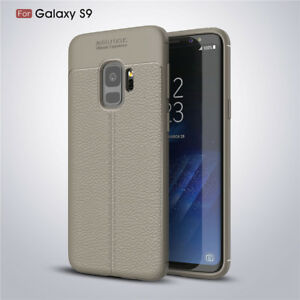 b224b0a2edf Details about For Samsung Galaxy A8 A8+ 2018 S9 Plus Shockproof Rubber  Leather Back Case Cover