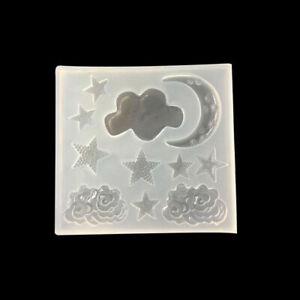 Moule étoile et lune pour créations en résine ou pâte polymère Neuf