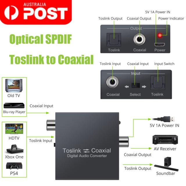 Digital Bi-derectional Coaxial Converter SPDIF Toslink Coaxial Xbox one PS4 DVD