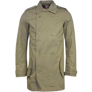 5a896838d748e Puma Mini equipo de color caqui abrigo largo Tapado de lluvia hombre ...