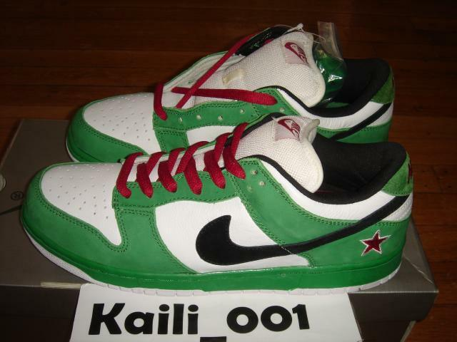 Nike Dunk Low Pro SB Sz 11.5 Green Black White Red Beer Star Supreme Paris C