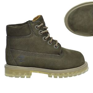 "Timberland LIMITED RELEASE Toddlers KIDS 6"" WATERPROOF Green Suede Boots A1BM2"