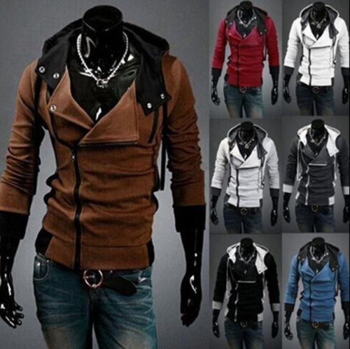 Kapuzenjacke Assassins Creed Slim Fit Kapuzenpullover Herren Mantel winter wa ZC