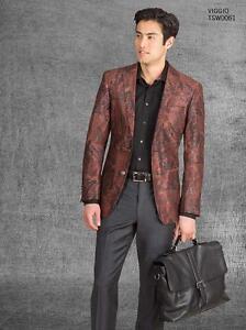 Tallia Orange Collection Men's Slim-Fit Orange Paisley Sport Coat ...
