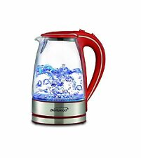 Tempered Glass Coffee Tea Kettle Hot Water Electric Cordless 1.7L in 5 COLORS