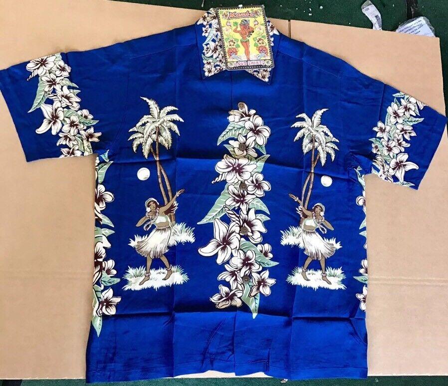 XL Hula Bleu Hula XL   RARE Mambo Loud shirt Australien Hawaïen 3819c2