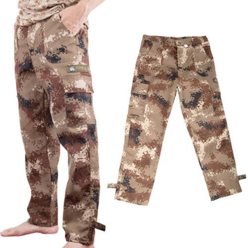 Camping Hiking Army Cargo Combat Military Men/'s Trousers Camouflage Pants Casual