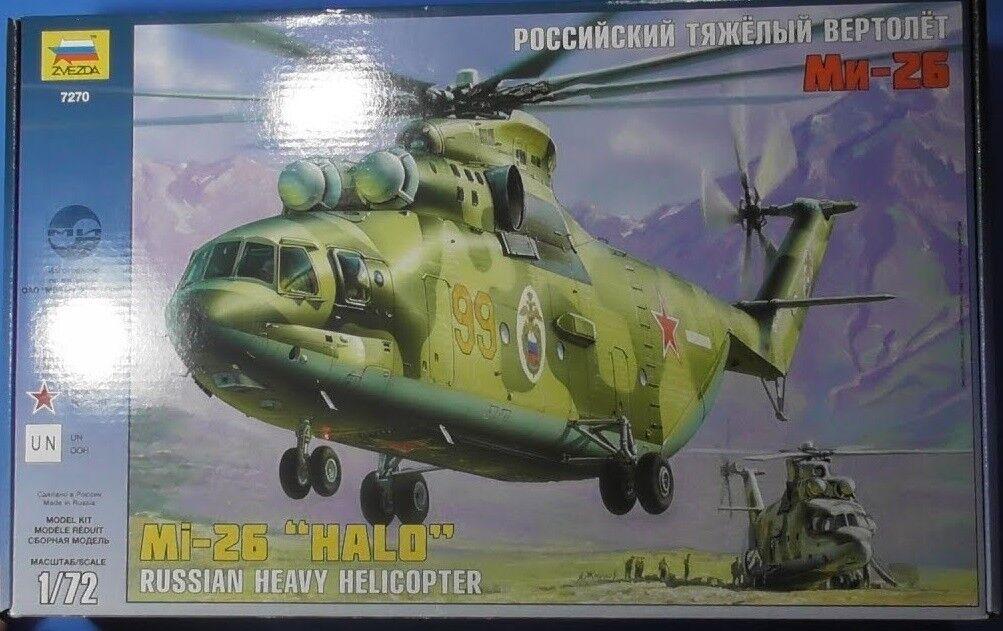 Zvezda 1 72 Escala Mil Mi-26 Soviético Pesado Helicóptero  Halo