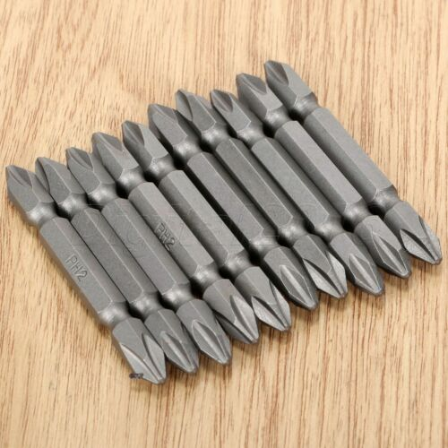 10pcs PH2 Screw Driver Hex Double Ended Screwdriver Bits Magnetic Screw Driver