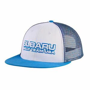 OFFICIAL SUBARU GEAR Genuine Subaru Rally Team USA New Era Stretch Mesh Visor Cap Grey Rally Gear Hat Sti WRX