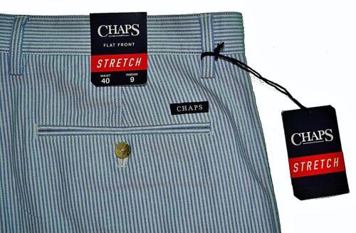 Casual Striped etichette 40w Shorts Nuove Chaps Performance white Uomo Blue 190328997813 Stretch XqpnwAU