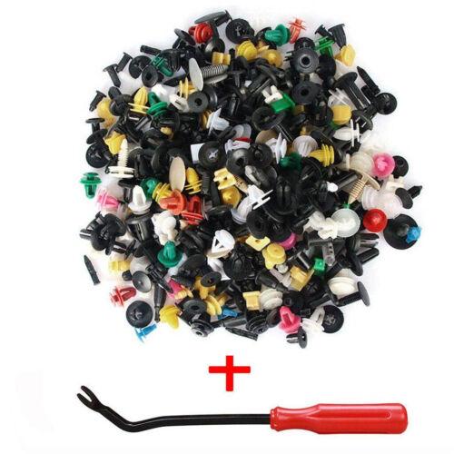 500X Car Push Pin Mixed Door Trim Panel Clip Fastener Bumper Rivet Retainer Tool