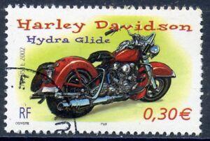 Stamp / Timbre France Oblitere N° 3514 Moto / Harley Davidson Hydra Glide
