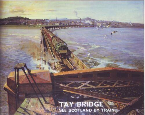 A2 Print 1952 British Rail Tay Bridge Dundee Poster A3