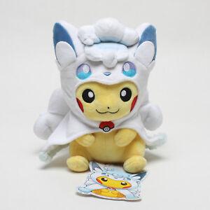 Pokemon-Center-Japan-Vulpix-Alola-Poncho-Pikachu-Soft-Stuffed-Plush-Toys-Doll