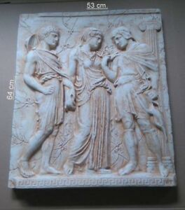 2 X RELIEF STUCK GIPS FLACHRELIEF GRIECHISCHE SKULPTUREN BILD WANDRELIEF GREEK