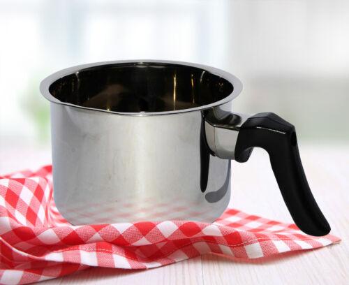 Olla de leche olla de acero inoxidable 13//14//15//16 cm simmertopf caja rol con asa