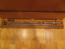 Starrett Inside Micrometer Set Model 124cz Range 8 32 Inch Machinist Tools