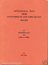 New York Genealogy-History-Data from Inventory of Estates 1666-1826-Values-Names