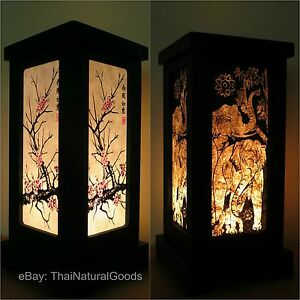 image is loading asianorientalbamboozenartbedsidetablelamp oriental lighting p70 oriental