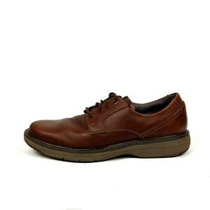 Clarks-1825-Marron-Cuir-Derbies-homme-Taille-11-m-Lacets-Decontractees-Chaussures-X11