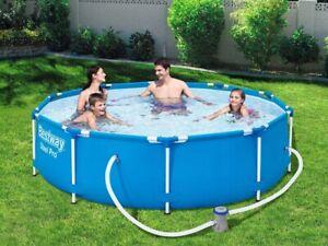 BESTWAY-STEEL-305-x-76cm-Garden-Set-Swimming-Pool-Filter-Pump-Limited-Offer