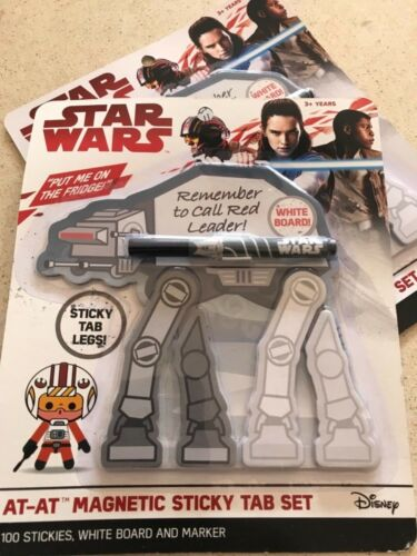 STAR WARS AT-AT MAGNETIC STICKY TAB SET WHITEBOARD /& MARKER PEN 100 STICKIES